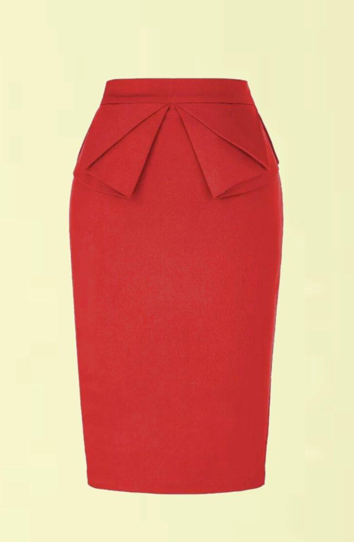 falda roja de segunda mano