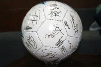 balon autografiado de segunda mano