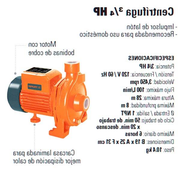bomba centrifuga 3 4 hp de segunda mano